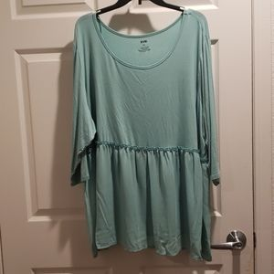 EVRI TOP TUNIC PULLOVER SIZE 3x  3/4 SLEEVES
